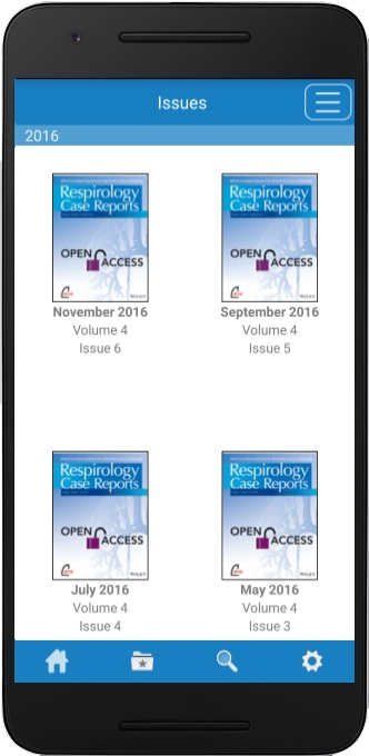 Respirology Case Reports app